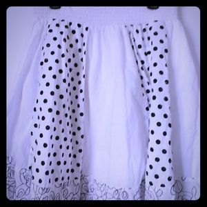 Joe Benbasset polka dot black and white skirt